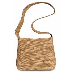Eric Javits Peanut woven cross body purse
